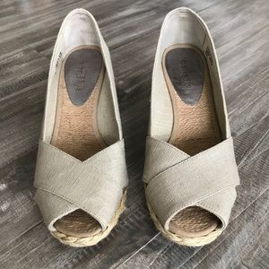 Lauren Ralph Lauren Metallic Wedge Espadrilles